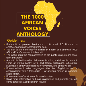 African voice anthology